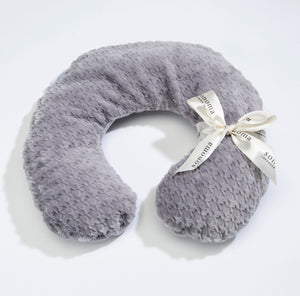 Lavender Spa Neck Pillow in Silver Houndstooth