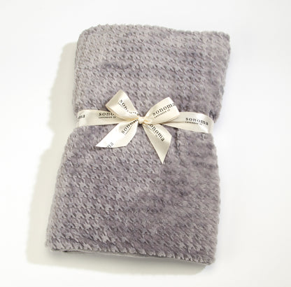 NEW!  Lavender Spa Blankie in Silver Houndstooth