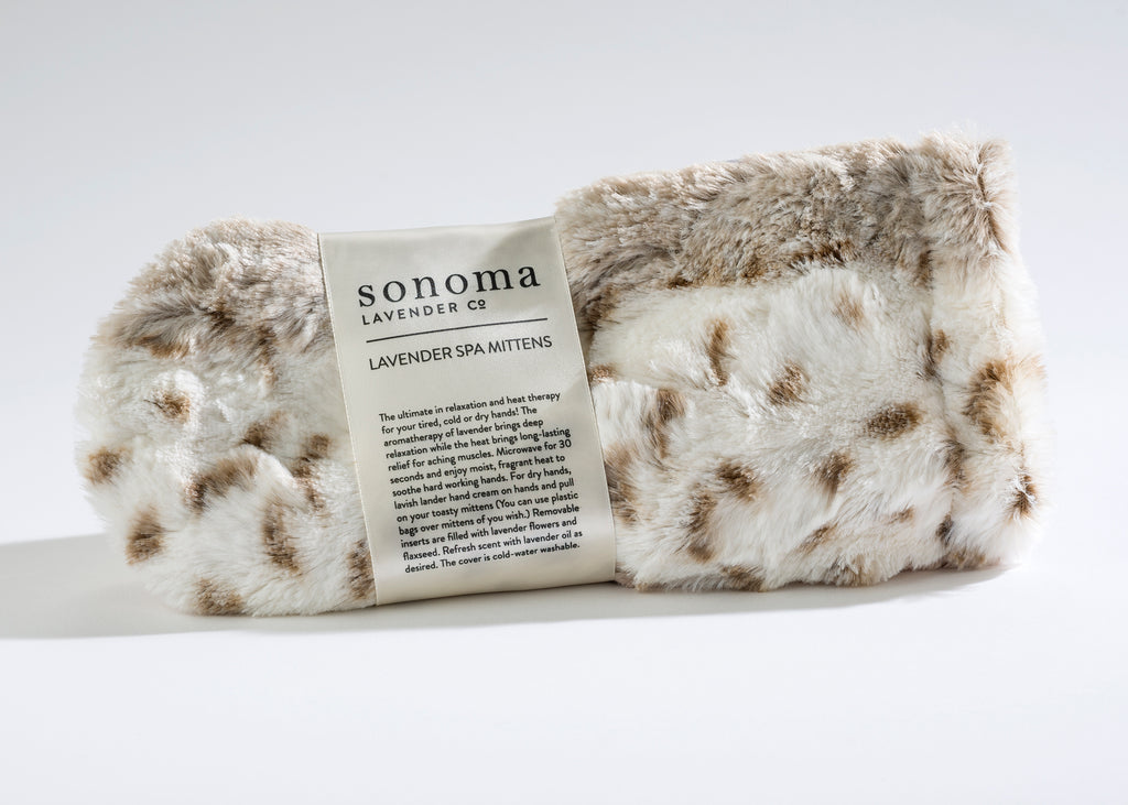 Lavender Spa Mittens in Arctic Circle Faux Fur