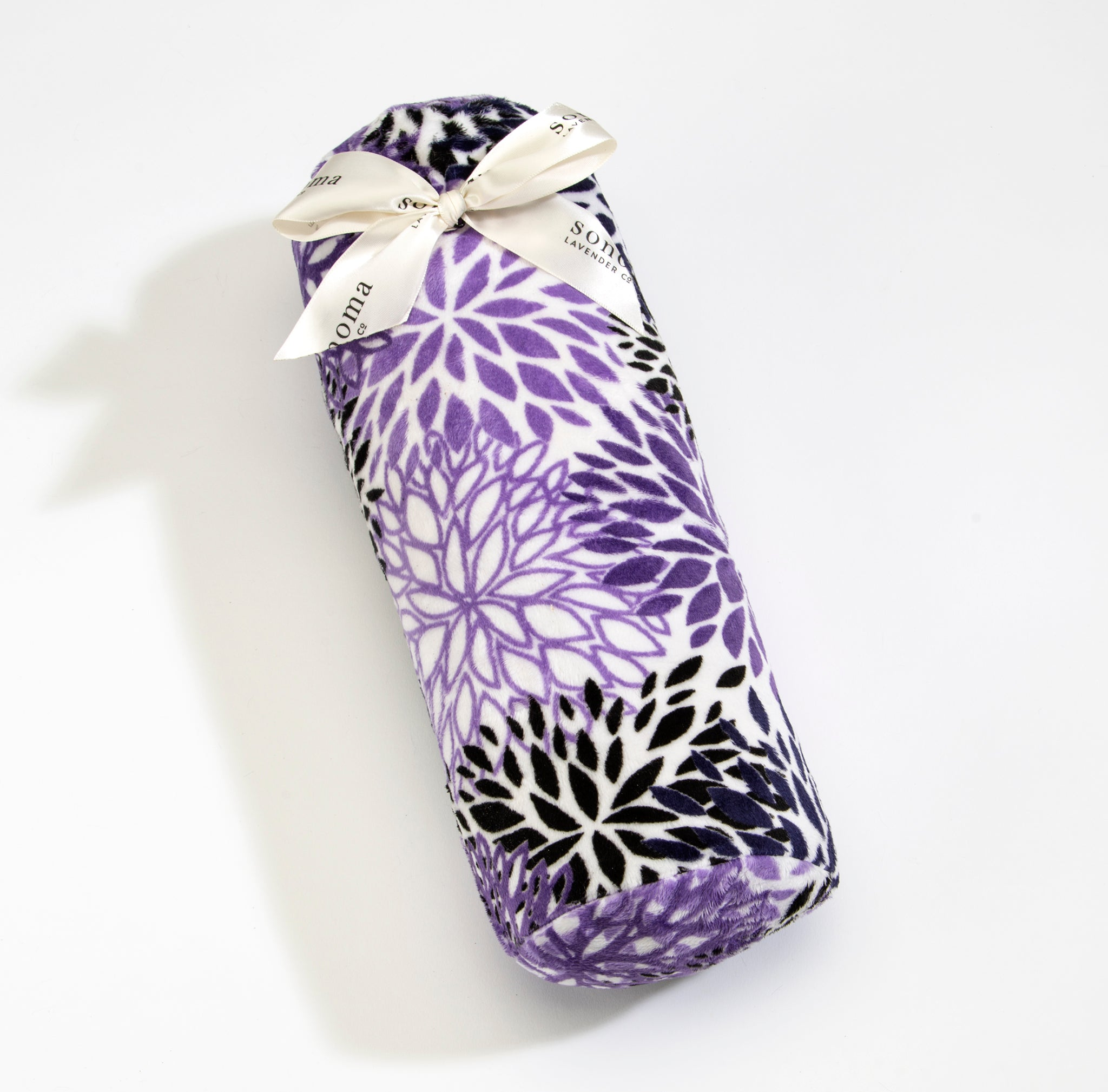 NEW!  Lavender Bolster Roll in Purple Bloom