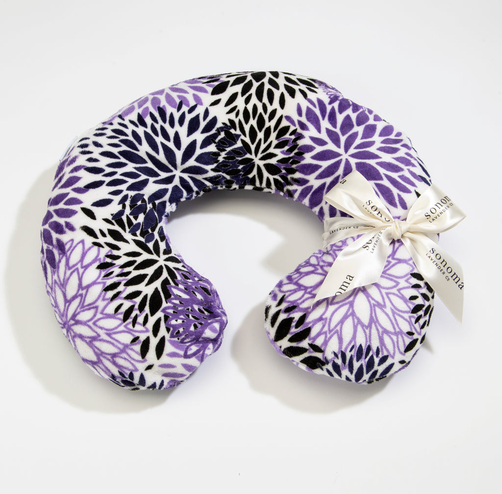 NEW!  Lavender Spa Neck Pillow in Purple Bloom