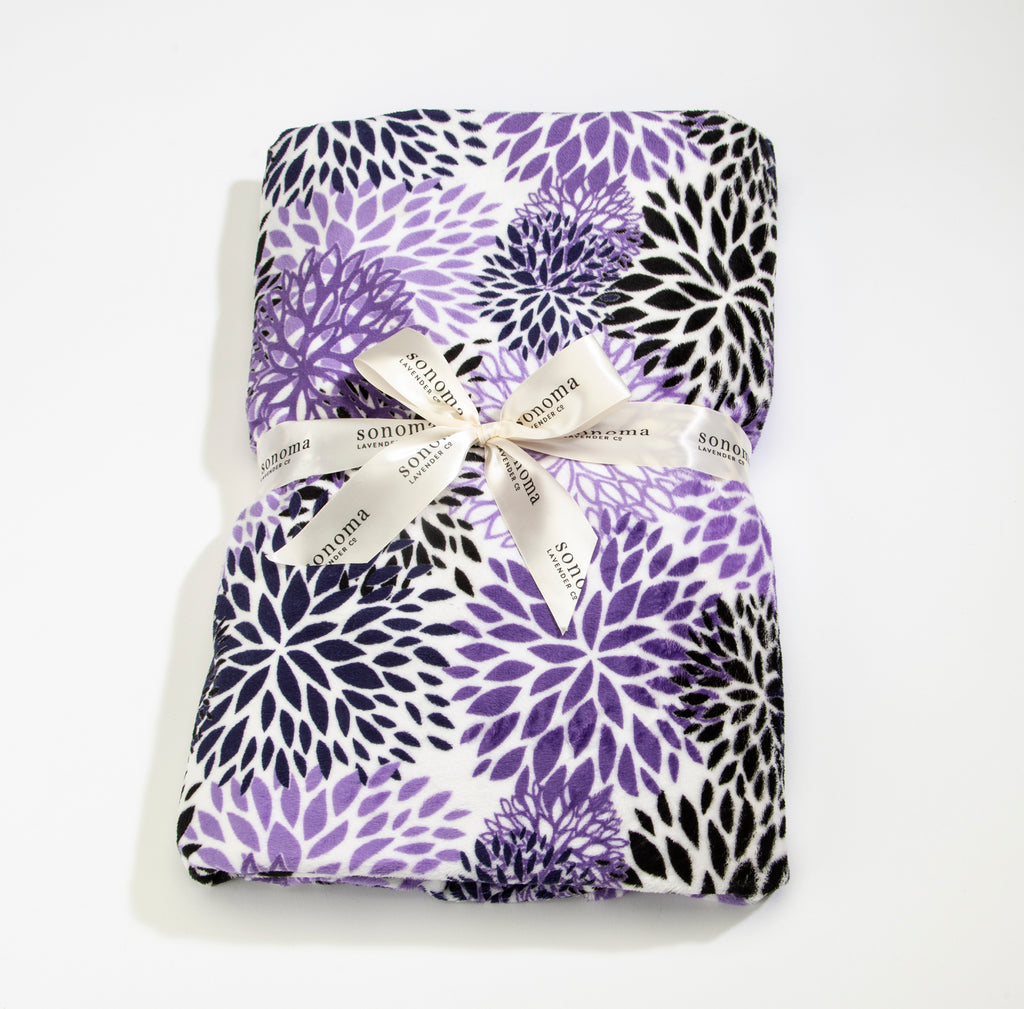 NEW!  Lavender Spa Blankie in Purple Bloom