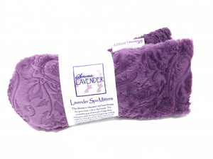 Lavender Spa Mittens in Embossed Paisley
