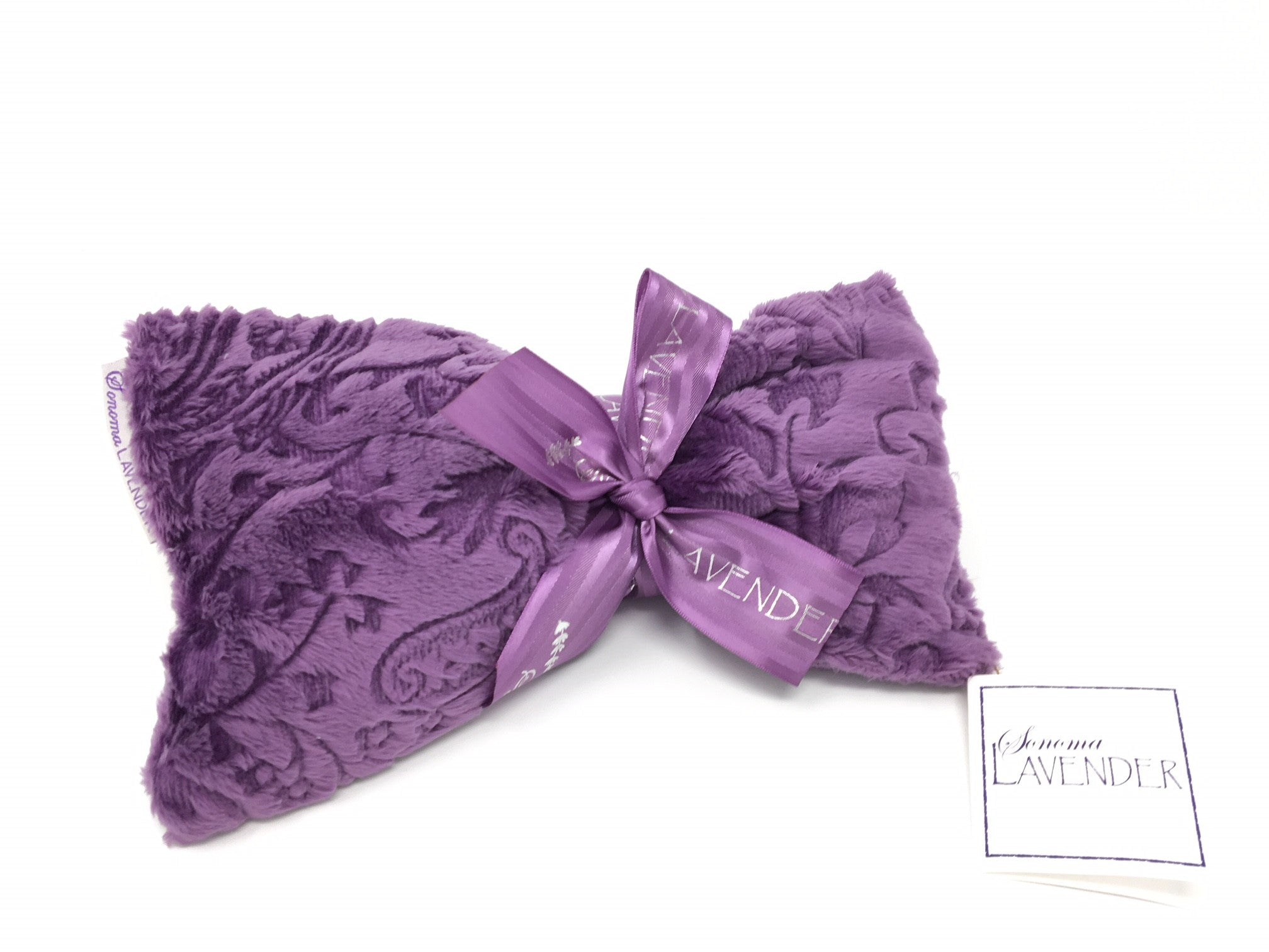 Lavender Spa Mask in Embossed Paisley
