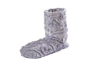 Lavender Spa Booties in Platinum Vine