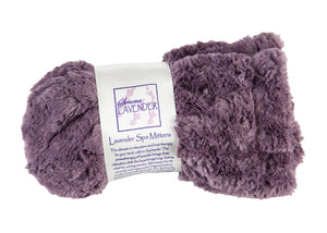Lavender Spa Mittens in Grapemist Cuddle