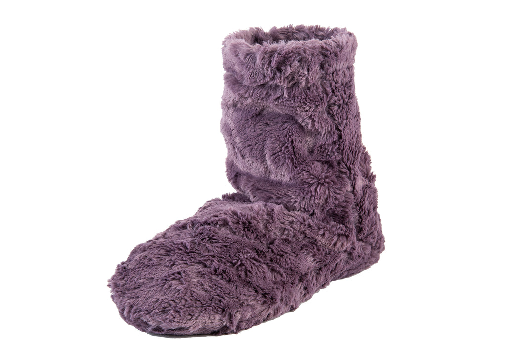 Lavender Spa Booties in Grapemist Cuddle