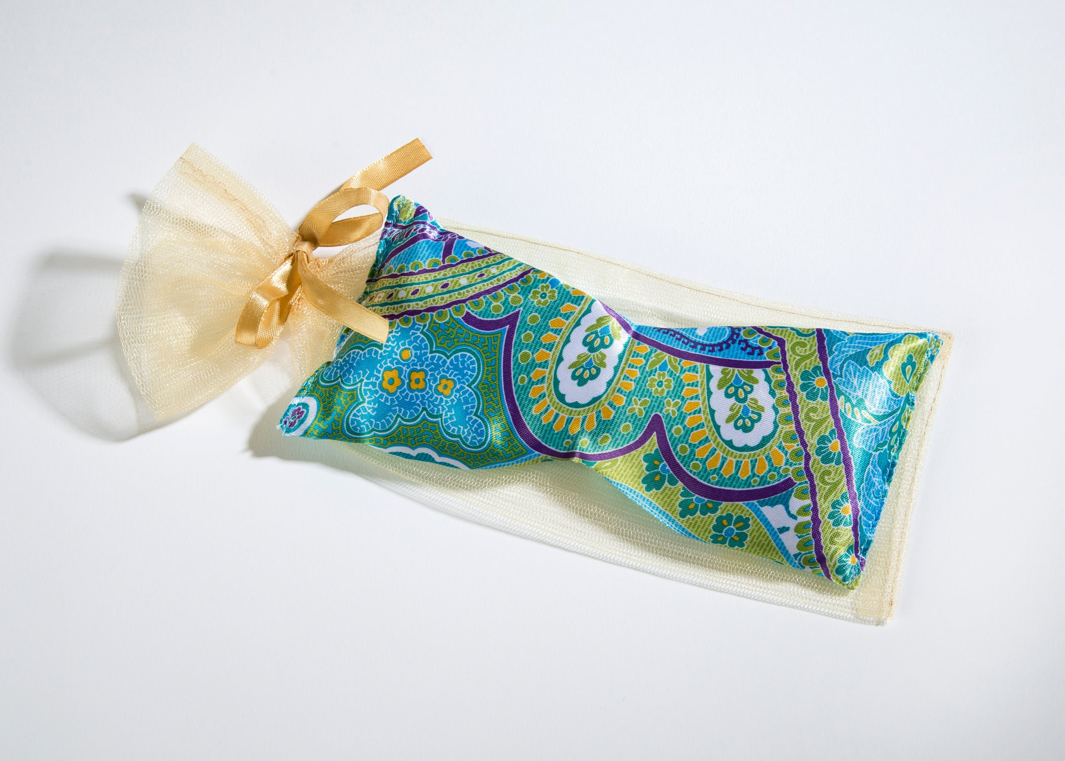 OceanAire Eye Pillow in Palm Beach Paisley Silk