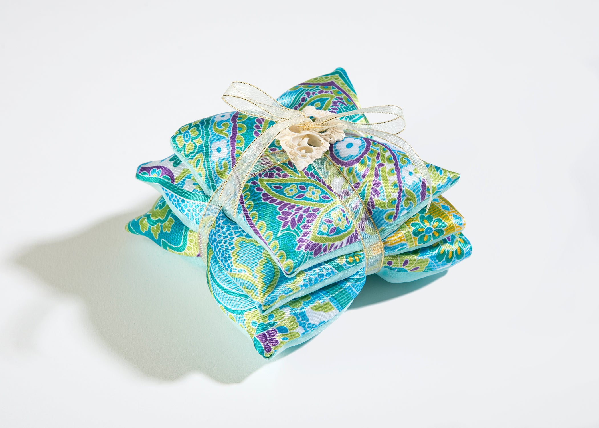 OceanAire Trio of Sachets in Palm Beach Paisley Silk