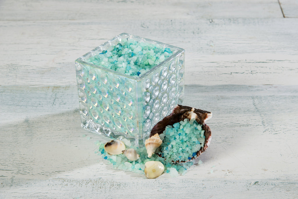 OceanAire Bath Salts in Decorative Glass