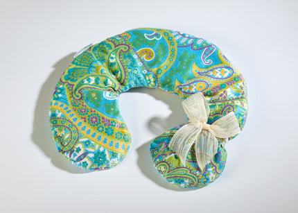 OceanAire Spa Neck Pillow in Palm Beach Paisley