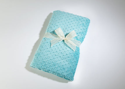 OceanAire Spa Blankie in Aqua Embossed Dot