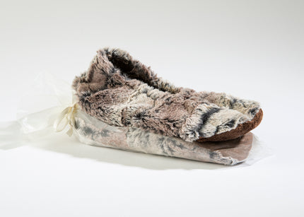 Timber Lake Spa Footies in Woodland Faux Fur