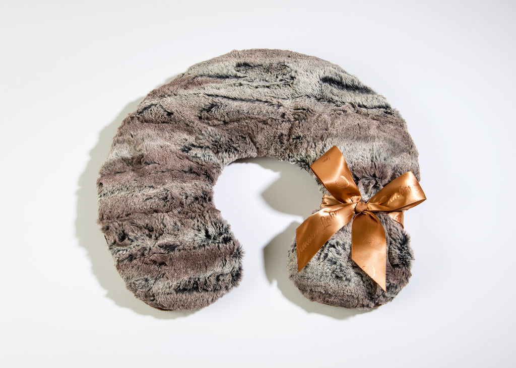 Timber Lake Spa Neck Pillow in Woodland Faux Fur