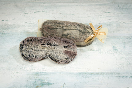 Timber Lake Sleep Mask in Woodland Faux Fur