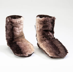 Timber Lake Spa Booties in Luxurious Faux Chinchilla Fur