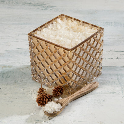 Timber Lake Scented Bath Salts in Decorative Glass