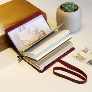 Refillable Leather Travelers Journal
