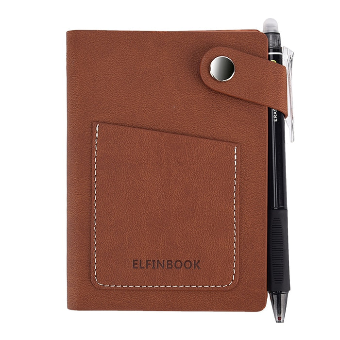 Elfinbook Mini Vintage Leather Smart Notebook