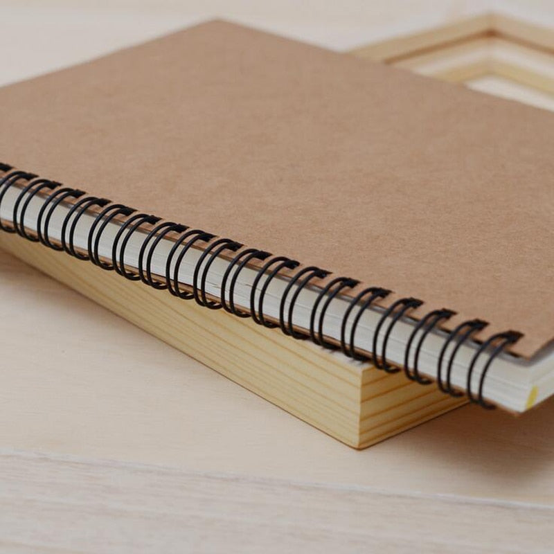 Retro Soft Cover Spiral Sketchbook