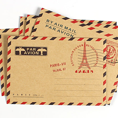 10pcs/set Vintage Air Mail Envelopes