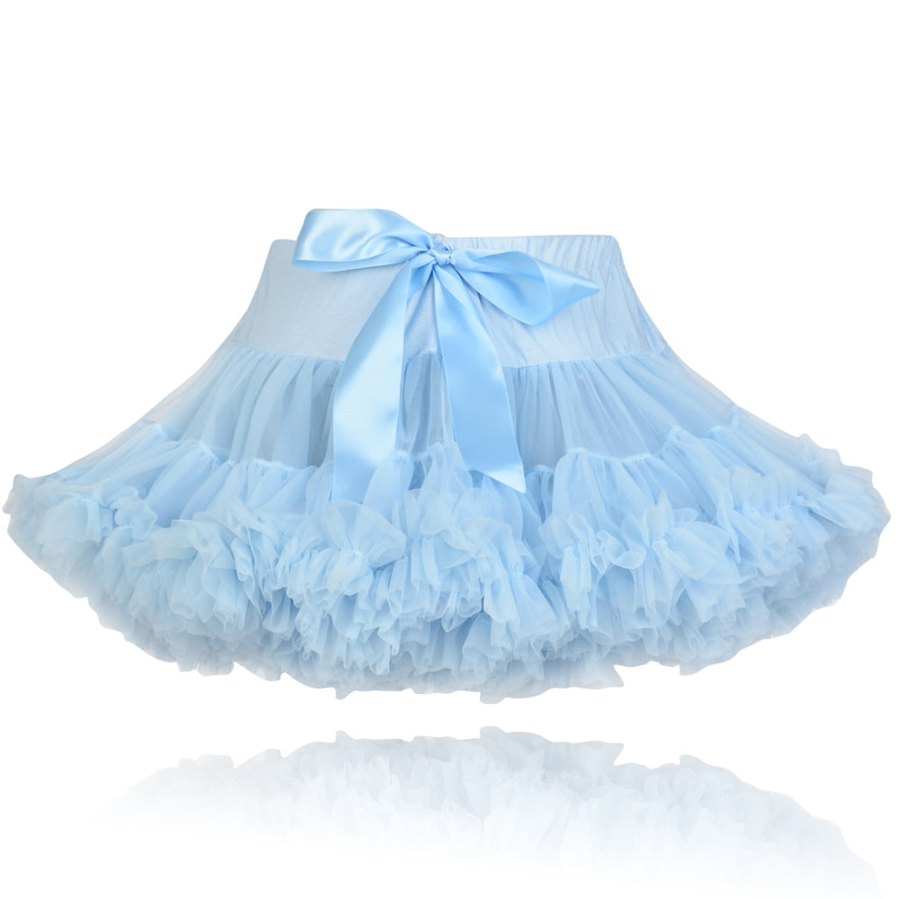 Silver Blue Couture Pettiskirt