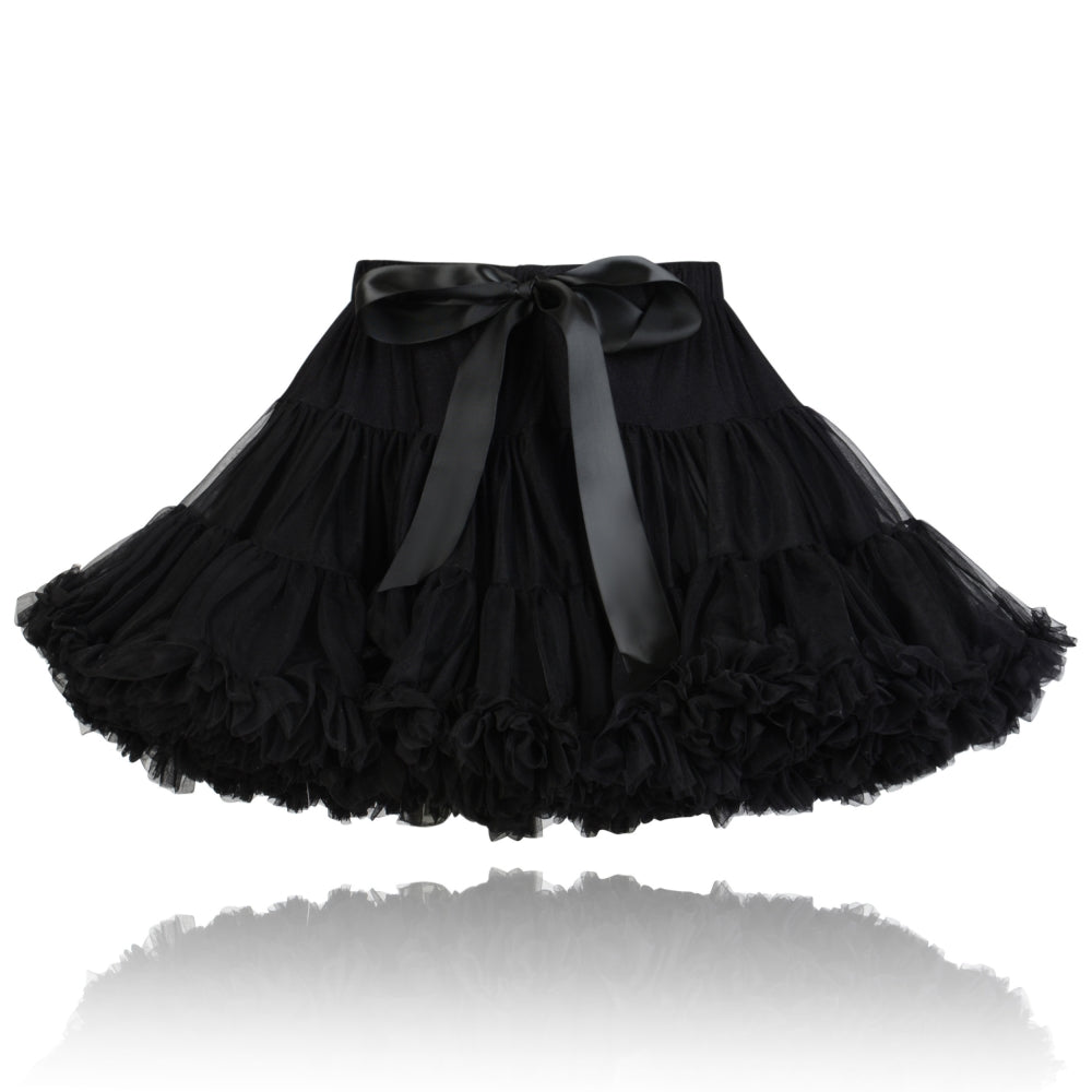 Girl's Black Couture Pettiskirt