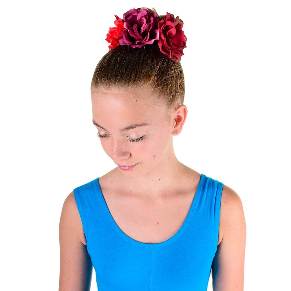 red Bohemian floral headbands