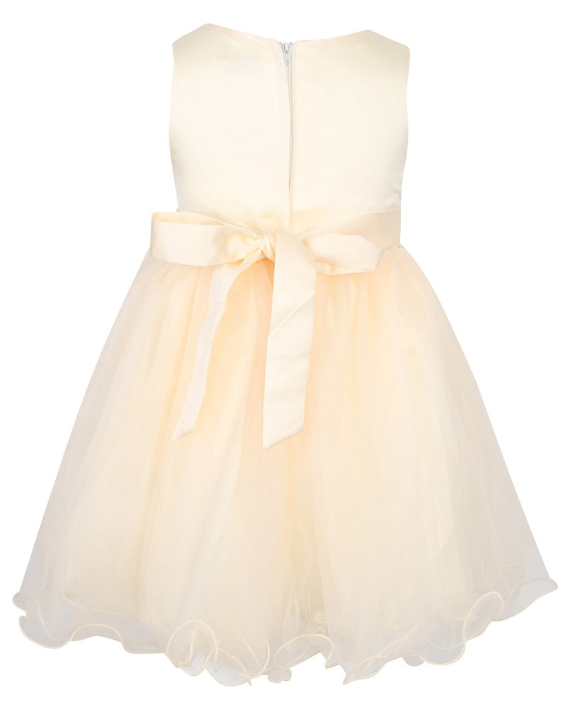 Girls cream party dress