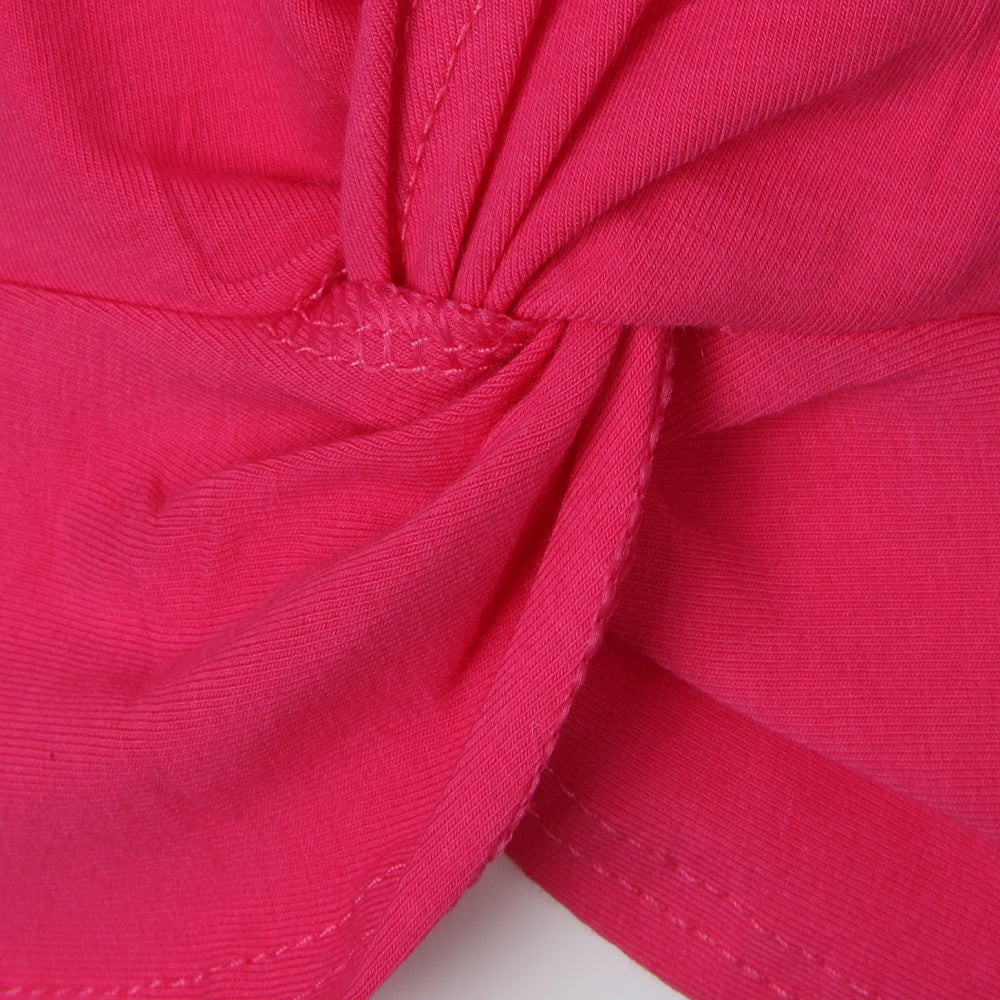 Bright pink ballet wrap top