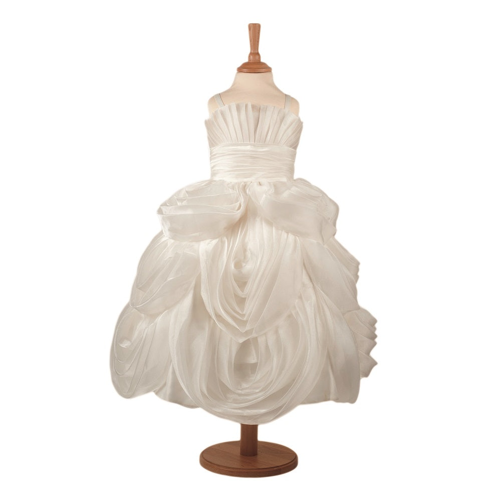 Frosted White Fondant Princess Costume on a mannequin