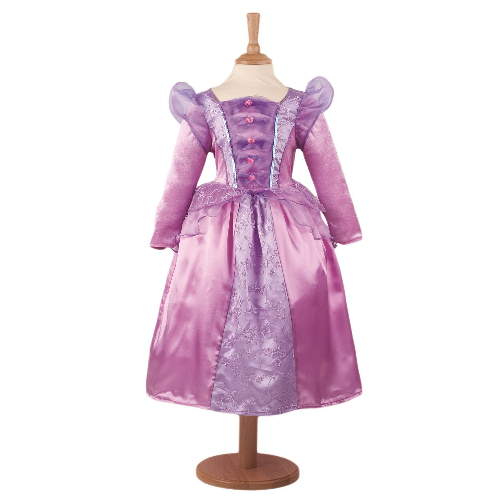 dusky pink and lilac princess costume dress