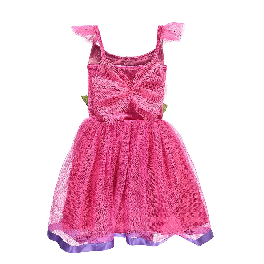 Flower Fairy Dress - Cerise