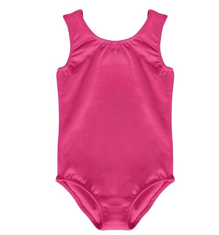 Fuchsia Pink Sleeveless Leotard