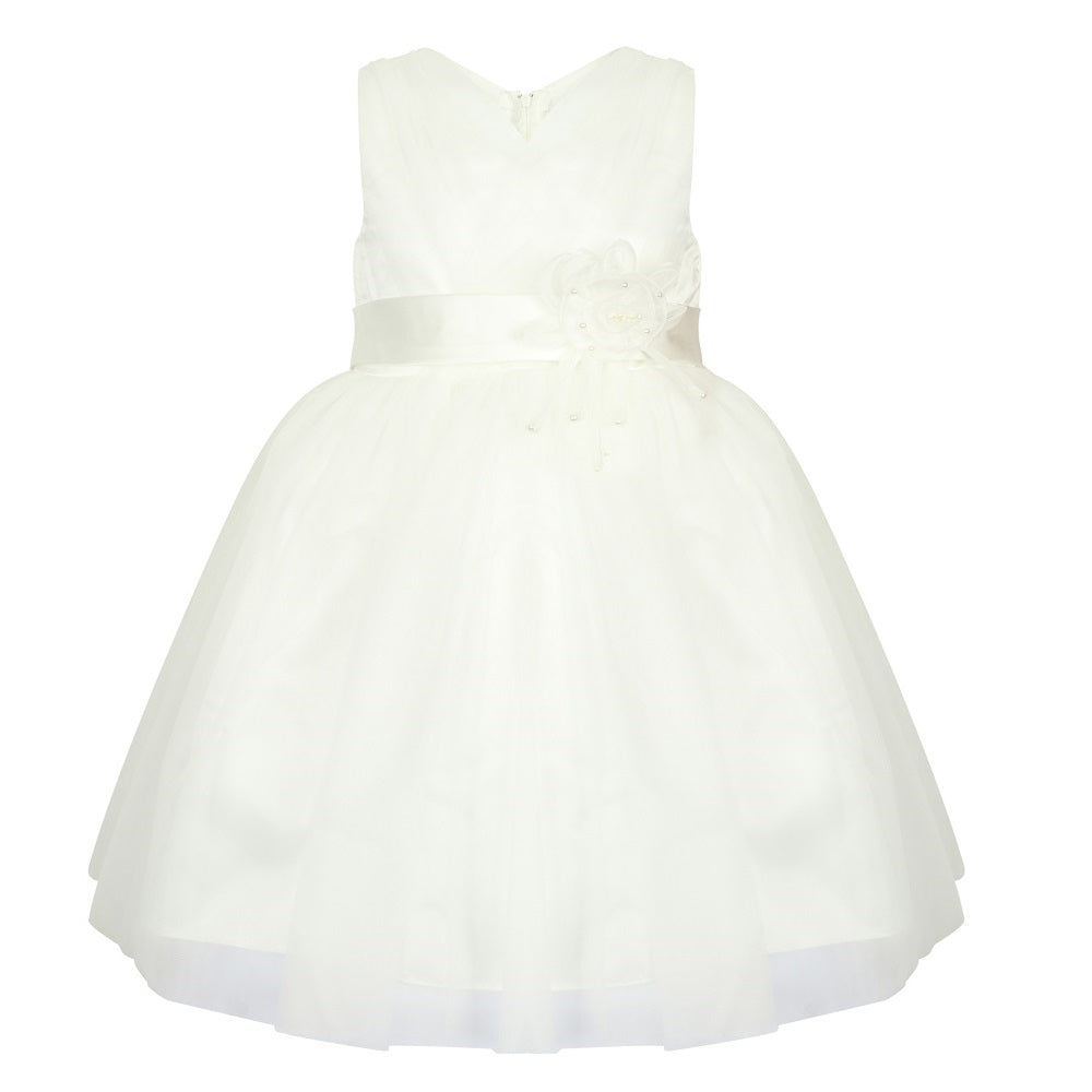 Girls white party dress
