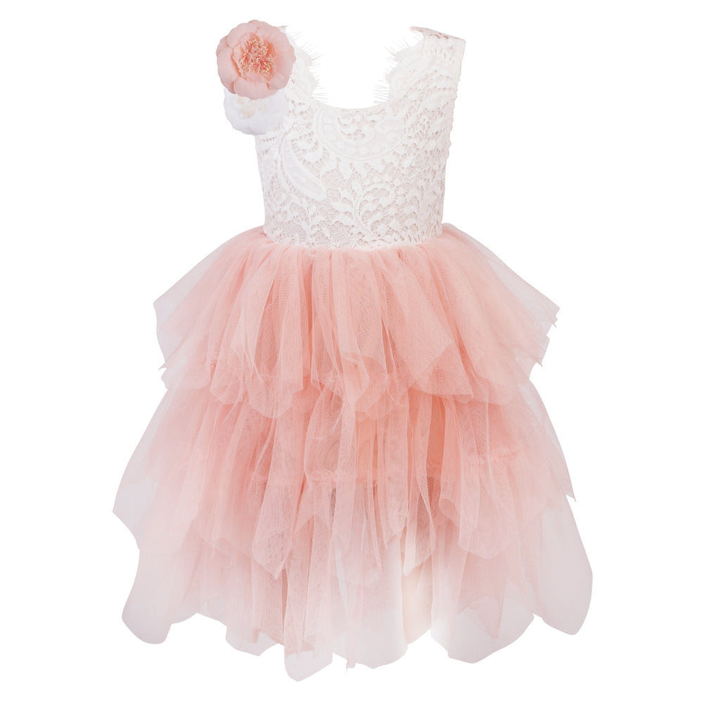 Boho Dreams Pink Flower Girl Dress