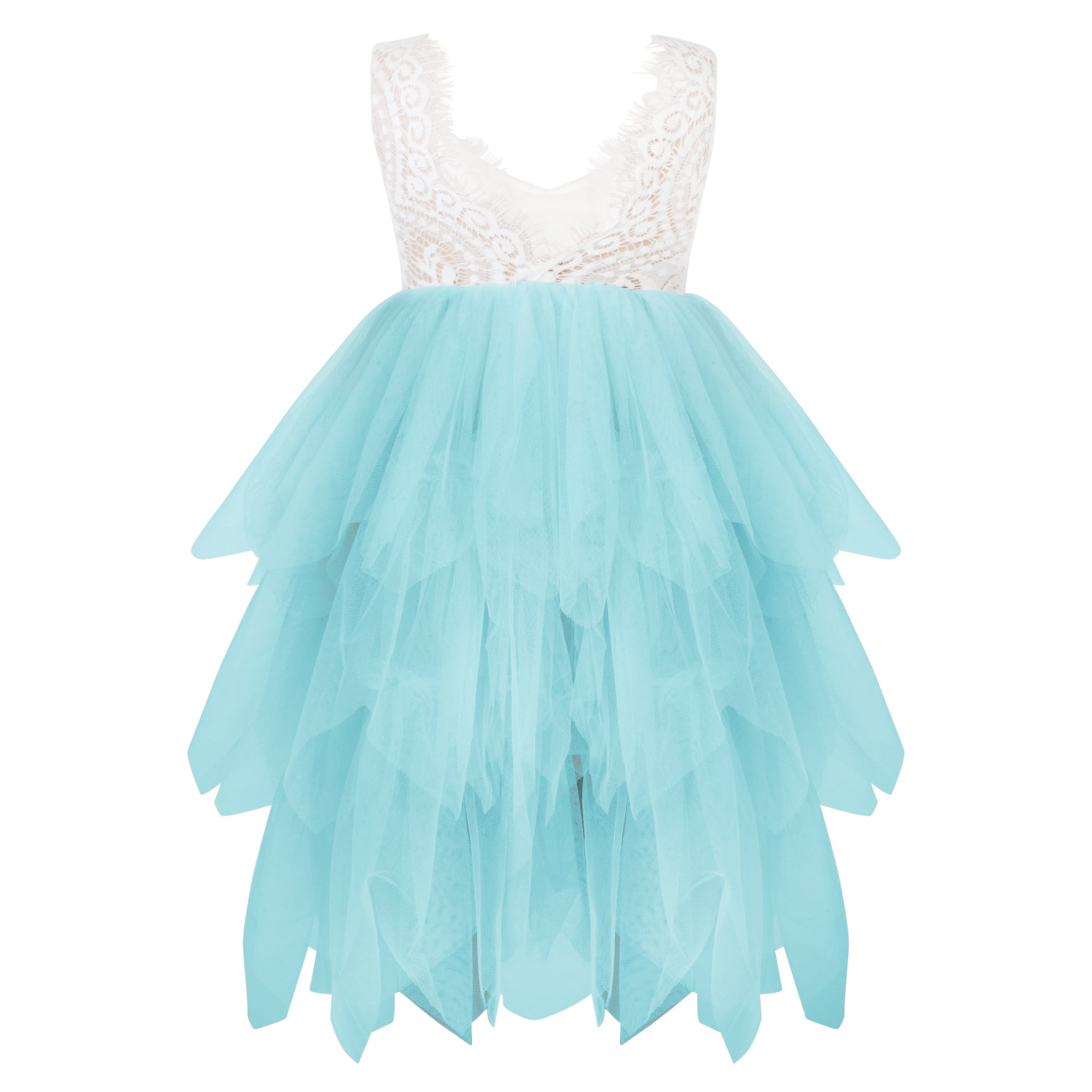 Boho Dreams Flower Girl Dress with mint coloured skirt