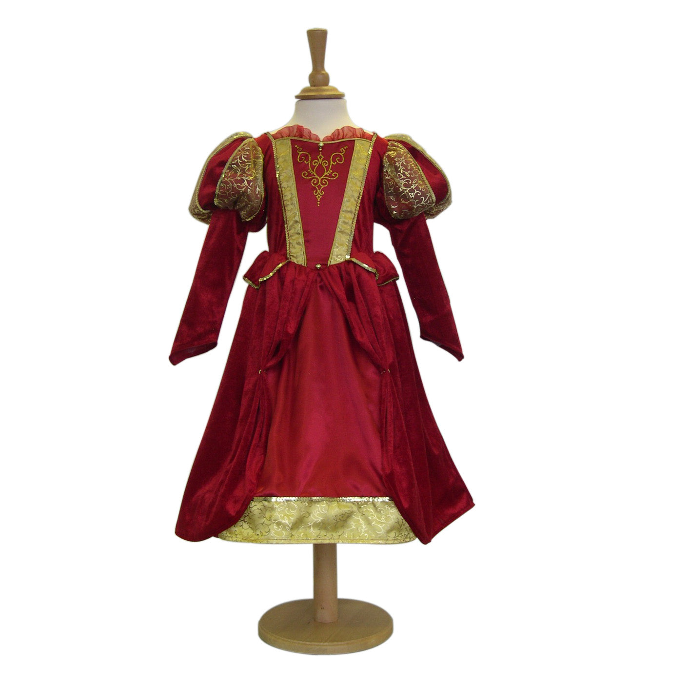 Red satin Medieval Queen Costume