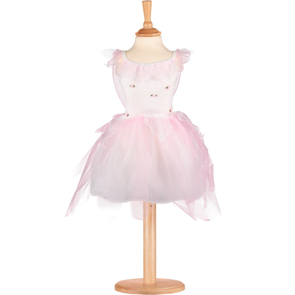 pale pink Rosebud Fairy Dress on a mannequin