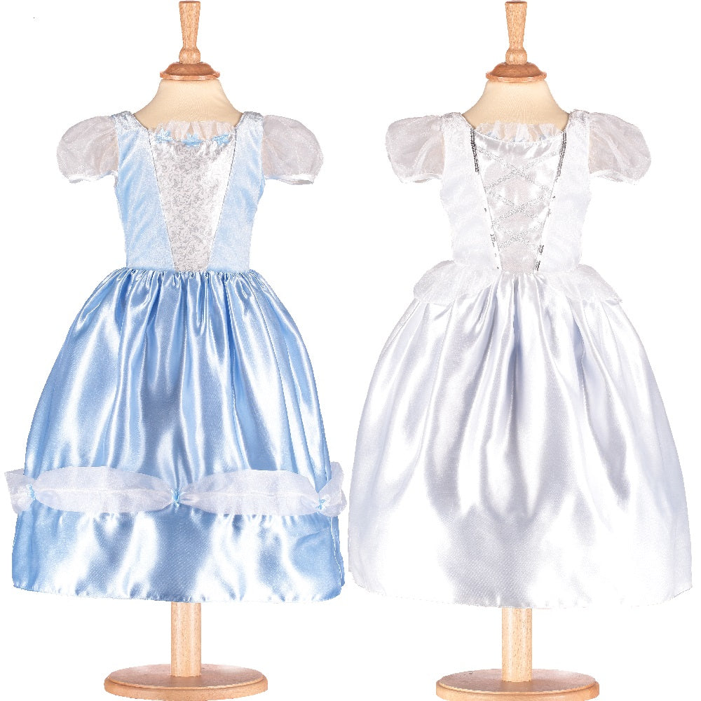 Reversible blue and white Bride / Princess Costume
