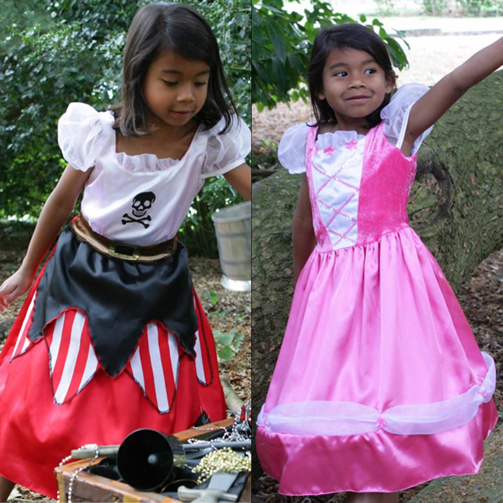 girls wearing Reversible Pirate / Princess Costume