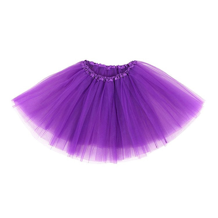 Three layer purple tulle ballet skirt