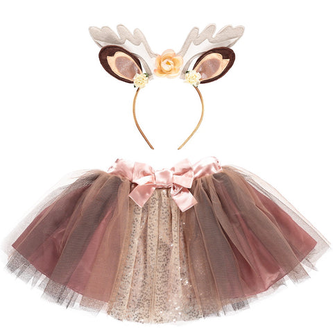 Cute woodland creature dress up set with tutu and animal ear headband