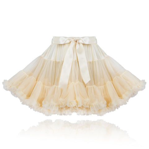 Vanilla Cream coloured girls Couture Pettiskirt