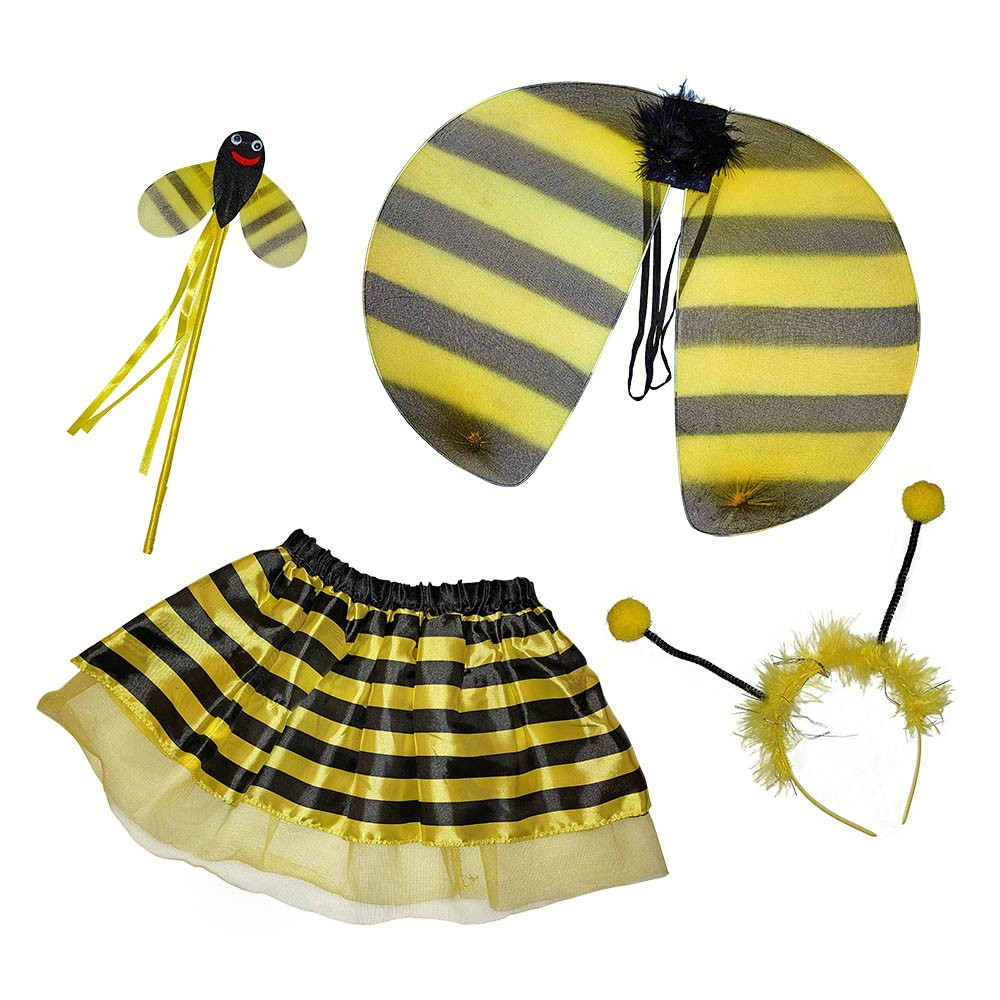 Bumble bee four piece dress up set