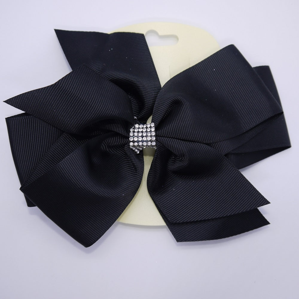 Black Diamante Hair Bow