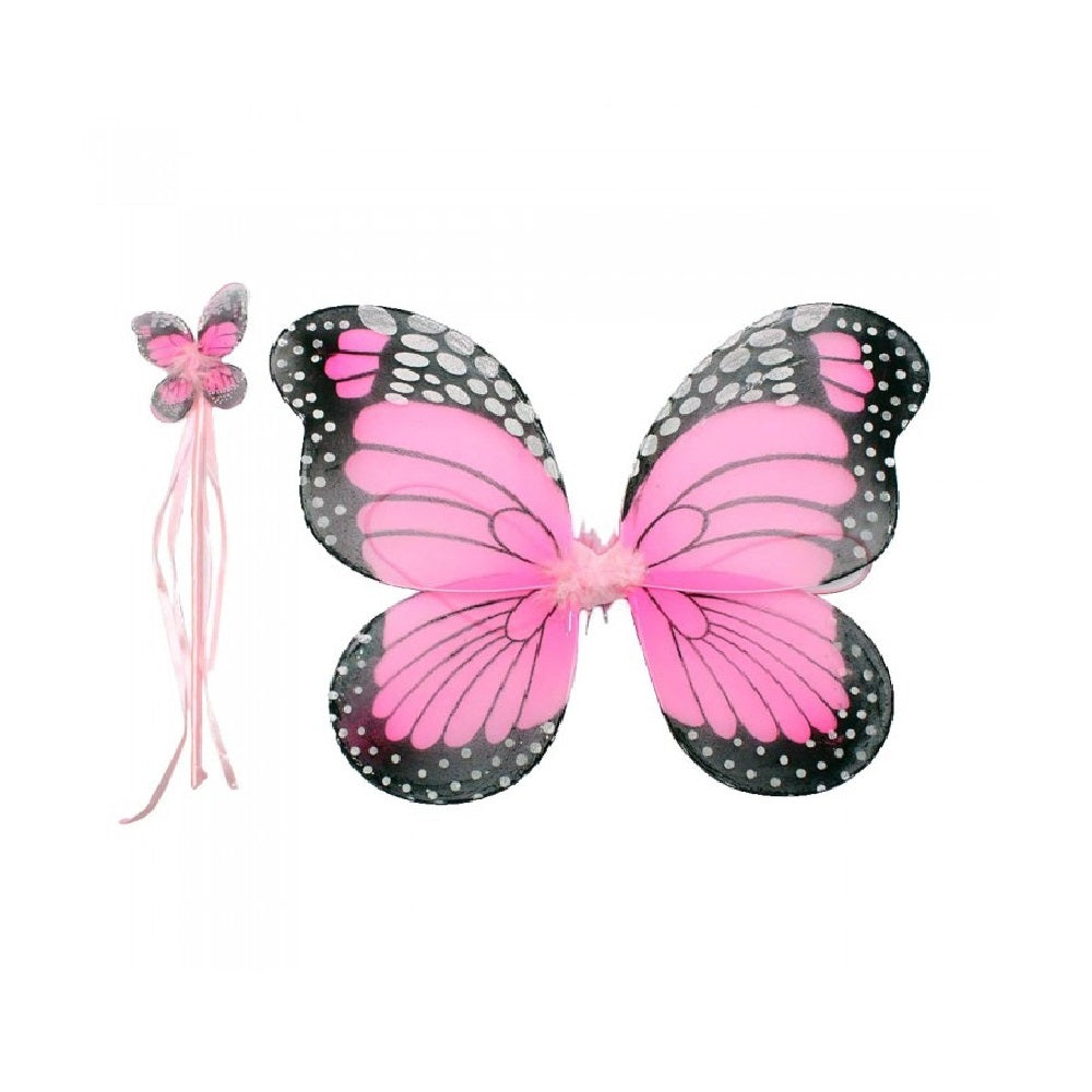 Spotty Butterfly Wings & Wand Set