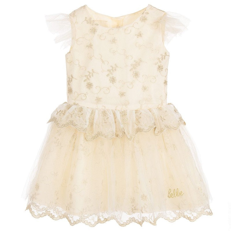 Disney Boutique - Belle Gold Embroidered dress