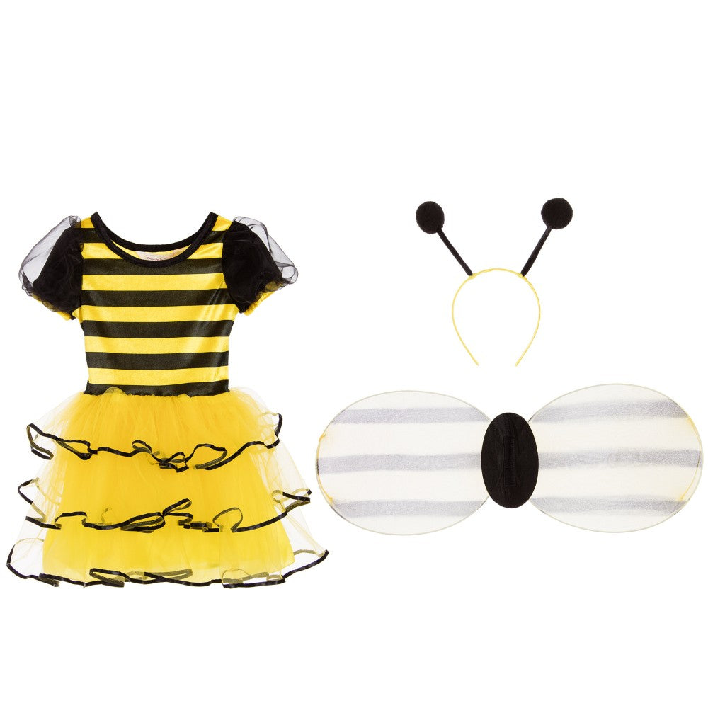 Girls yellow three piece bumble bee costume