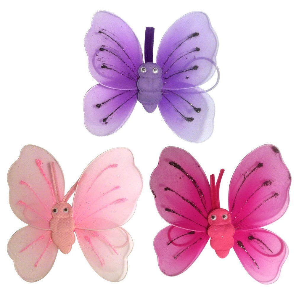 colourful Teeny baby wings with butterfly centres